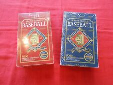1992 DONRUSS BASEBALL BOXES.  SERIES 1 AND 2.  ONE OF EACH