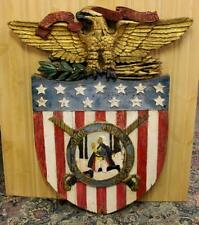 Vintage OLD 1920's  Valley Forge Military Academy wood trade sign,not porcelain