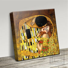 GUSTAV KLIMT KISS CLASSIC WONDERFULLY ICONIC CANVAS PRINT PICTURE Art Williams