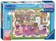 NEUF RAVENSBURGER Peppa Pig Mon Premier étage Puzzle Look & trouver 16 Piece Jigsaw