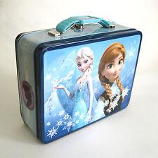 Frozen Movie Disney Metal Tin Lunch Box Girls Anna Elsa Storage Container