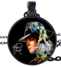 Michael Jackson Signature Designed Glass Dome Pendant NECKLACE