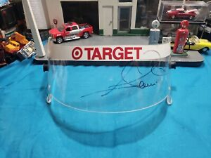AUTOGRAPH Race-Used Visor  Indy 500 LOOKING FOR INDY COLLECTOR  HARD TO FIND