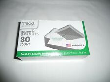 """New listing Mead Security Envelopes, 80 Count. Printed Lining For Privacy -3 5/8"""" x 6 1/2"""""""