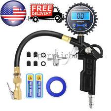 Digital Tire Inflator with Pressure Gauge 300 PSI Air Chuck for Truck/Car/Bike