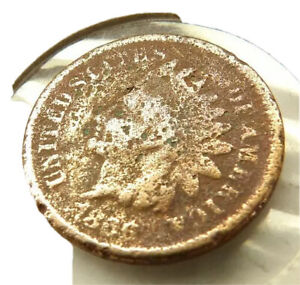 1866 INDIAN HEAD PENNY COIN + FREE SHIPPING!