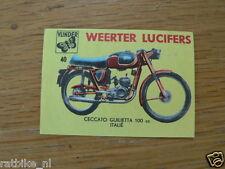 M40 WEERTER LUCIFERS,MATCHBOX LABELS CECCATO GUILIETTA 100CC MOTORCYCLE