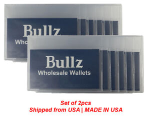 Set of 2  plastic wallet inserts for checkbook and long wallet MADE IN USA e2906