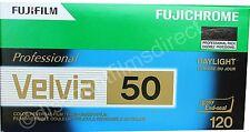 2 x Fuji Fujichrome Velvia 50 50iso 120 Roll Colour Slide Film DATED 06/2017