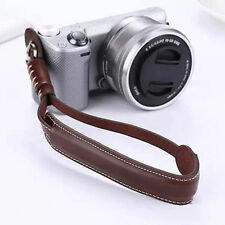 Brown Camera Wrist Hand Strap PU Leather Lanyard For DSLR UK Seller