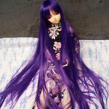 """7-8"""" 1/4 BJD Hair MSD Doll wig Mini Super Dollfie Long straight purple AF DL AOD"""