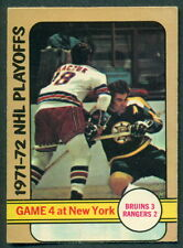 1972 73 OPC O PEE CHEE 38 PLAYOFFS GAME 4 NHL ACTION BOSTON BRUINS V N Y RANGERS