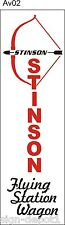 AV002 Stinson Flying Station Wagon Airplane banner hangar garage Aircraft signs