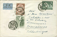 1958 Peking China Cover to Czechoslovakia Karl Marx Stamps
