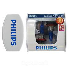 New Philips 5000K Diamond Vision H11 Xenon HID Look Head Light Bulbs Pair