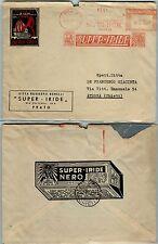 REGNO-Affrancatura meccanica SUPER IRIDE-Busta Prato- Atessa 21.7.1953