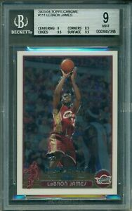 LeBron James 2003 Topps Chrome Rookie #111 ** BGS 9 ** Red Hot / Nicely Centered