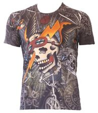 Street Rebel Minute Mirth Skull T-shirt The King Is Back Shiroi Neko Large 42in