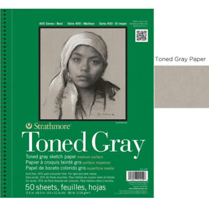 """Strathmore Recycled Toned Pad 400 Series 5.5x8.5"""" - 50 sheets - Gray"""
