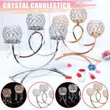 3Pcs Elegant Tea Light Crystal Candle Holders Candlestick Wedding Table Decor