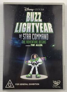 BUZZ LIGHTYEAR Of Star Command (2001) DVD Tim Allen Disney Pixar Reg 4 Free Post