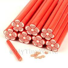 Natural Rojo Flor De Caña Para Decorar Uñas y joyas Unc11