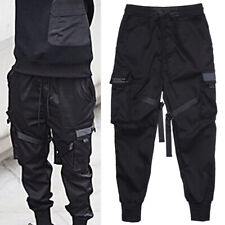 Men Fashion Black Hip Hop Street Tactical Harem Pants Joggers Cargo Trousers