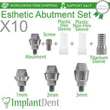 10 Esthetic Titanium Abutment Set, MultiUnit Internal Hex dental implant