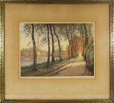 Jean Joseph Chabridon (French) Autumn Etching Print Pencil Signed