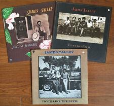 3 James Talley LPs: Ain't It Somethin', Tryin' Like the Devil, Blackjack Choir