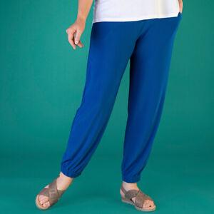 Kasara Plain Cuffed Trouser with Pockets,  L 16-18, XL 20-22, cobalt, navy, blac