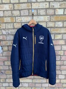 Arsenal FC Puma 2015-2016 Mens Reversible Padded Jacket Coat Size XL
