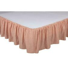 New Pine Cone Hill Twin Bed Skirt Pink White Stripe Tic Tac Ruffle Cotton N Wt R