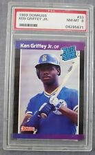 Ken Griffey Jr 1989 Donruss Rated Rookie RC Card #33 Graded PSA NM-MT 8