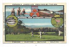 NEW BRUNSWICK multi-view postcard showing leisure / recreation type sports