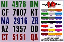 High Quality at Bargain Price BOAT REGISTRATION  DECALS, Quick Free Shpn