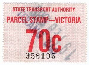 (I.B) Australia - Victoria Railways : Parcel Stamp 70c (Terang)