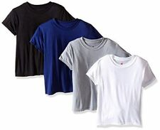 4 Hanes Boy's Tops X-Temp Tagless Crew T-shirts Undershirts Assorted colors+Size