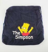 "Bart Simpson Drawstring Bag The Simpsons 14""x16"""
