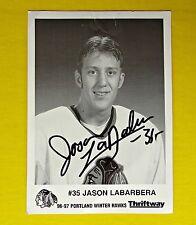 Jason Labarbera Portland WinterHawks Signed Photograph Photo Picture 1996 1997 ✔