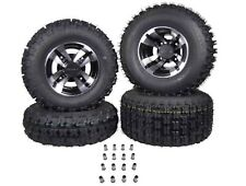4 NEW RAPTOR 700 MASSFX Black Machine RIMS on MASSFX Tires Wheels kit