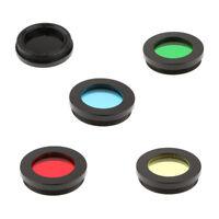 "5Pcs 1.25"" Telescope Color Filter for Celestron Eyepiece Lens Planet Moon"