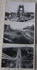 BRISTOL CONSTRUCTION OF THE CLIFTON SUSPENSION BRIDGE 3 x REAL PHOTO  POSTCARDS
