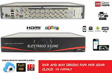 DVR AHD IBRIDO NVR HVR SDVR 16 CH CANALI AUDIO VIDEO FULL HD 960H CLOUD P2P