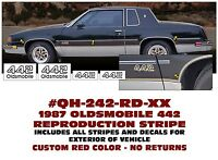 GE-QH-113 1973-77 CHEVY EL CAMINO SS COMPLETE BODY STRIPE KIT 2 COLOR