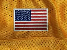 AMERICAN FLAG EMBROIDERED PATCH  WHITE BORDER US UNITED STATES shoulder patch