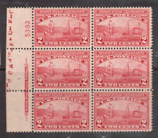 Usa #372 Very Fine Never Hinged Plate Block Of Six