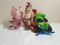 Toy Story Movie Soft Toy Star Bean RC, Hamm, Bullseye plush bundle