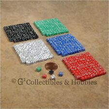 NEW 5mm 500 MINI Dice Set RPG Game Miniature 3/16 inch Tiny D6 Bulk - 5 Colors