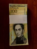 Venezuela 100,000 100000 Bolivares X 100 Pcs Bundle 2016/2017 Prefix Varies USED